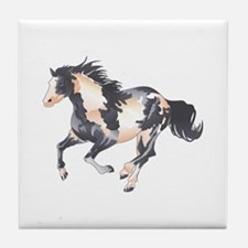 PAINT HORSE Tile Coaster