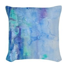 108872005 Blue Water Woven Throw Pillow