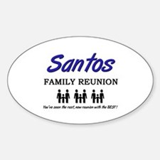 Santos Family Reunion Oval Decal