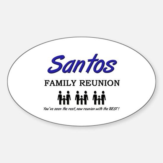 Santos Family Reunion Oval Decal