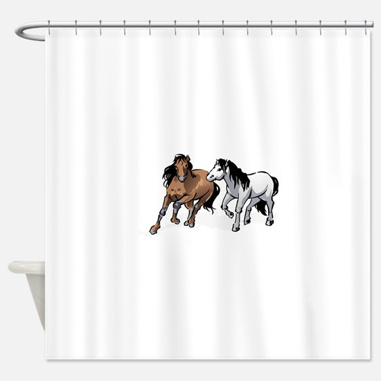 HORSES ONLY Shower Curtain