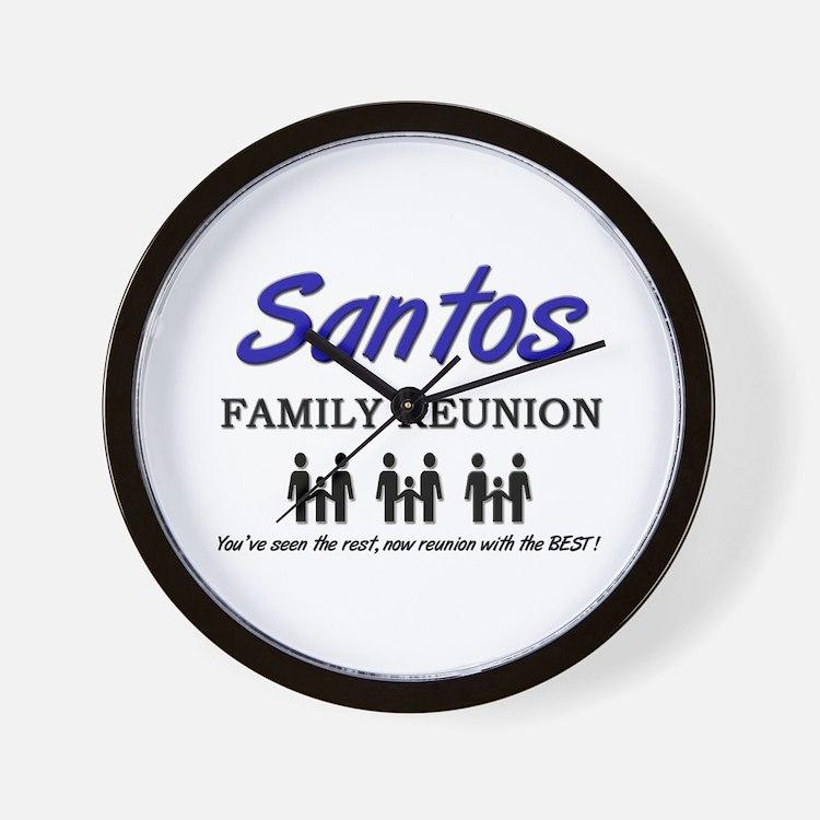 Santos Family Reunion Wall Clock