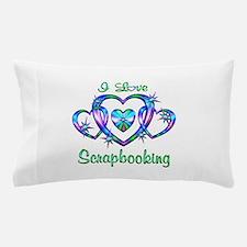 I Love Scrapbooking Pillow Case