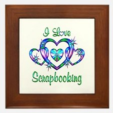 I Love Scrapbooking Framed Tile