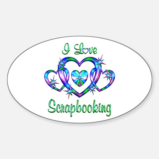 I Love Scrapbooking Sticker (Oval)