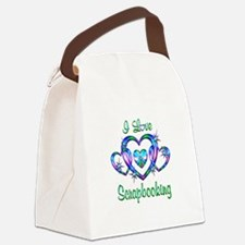 I Love Scrapbooking Canvas Lunch Bag