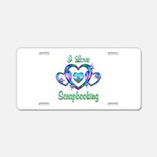 I Love Scrapbooking Aluminum License Plate