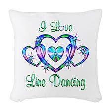 I Love Line Dancing Woven Throw Pillow