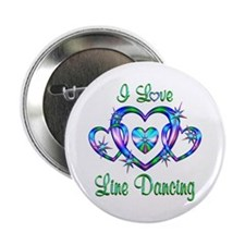"""I Love Line Dancing 2.25"""" Button"""