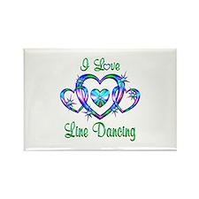 I Love Line Dancing Rectangle Magnet