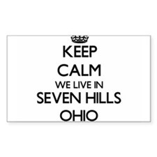 Keep calm we live in Seven Hills Ohio Decal