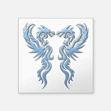 twin dragons new (W).png Sticker