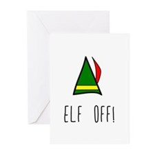 Elf Off Greeting Cards