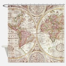 108872005 Antique Map Shower Curtain
