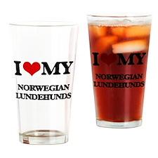 I love my Norwegian Lundehunds Drinking Glass
