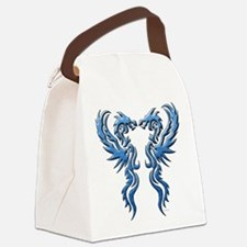 twin dragons new (W).png Canvas Lunch Bag