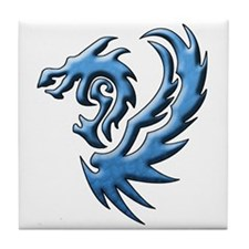 twin dragons new (W).png Tile Coaster