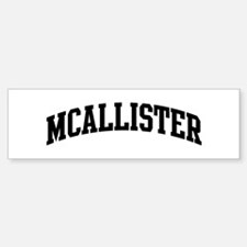 MCALLISTER (curve-black) Bumper Car Car Sticker