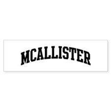 MCALLISTER (curve-black) Bumper Car Sticker