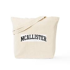 MCALLISTER (curve-black) Tote Bag