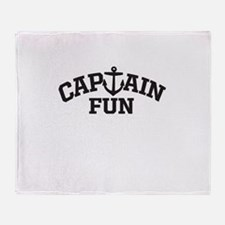 Captain Fun Throw Blanket