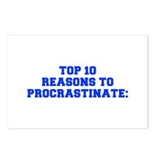 Top 10 reasons to procrastinate-Fre blue Postcards