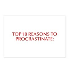 Top 10 reasons to procrastinate-Opt red Postcards
