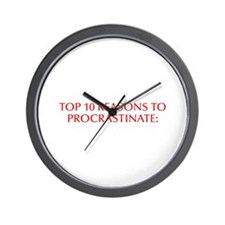 Top 10 reasons to procrastinate-Opt red Wall Clock