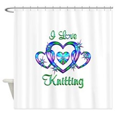I Love Knitting Shower Curtain