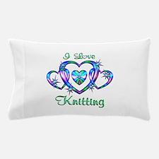 I Love Knitting Pillow Case