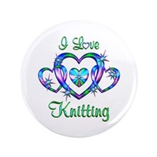 "I Love Knitting 3.5"" Button"