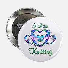 "I Love Knitting 2.25"" Button"