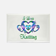 I Love Knitting Rectangle Magnet (10 pack)