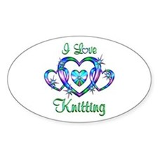 I Love Knitting Decal
