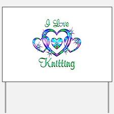 I Love Knitting Yard Sign