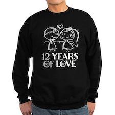 12th Anniversary chalk couple Sweatshirt