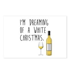 White (WINE) Christmas Postcards (Package of 8)