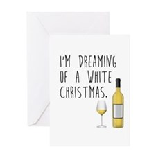 White (WINE) Christmas Greeting Cards