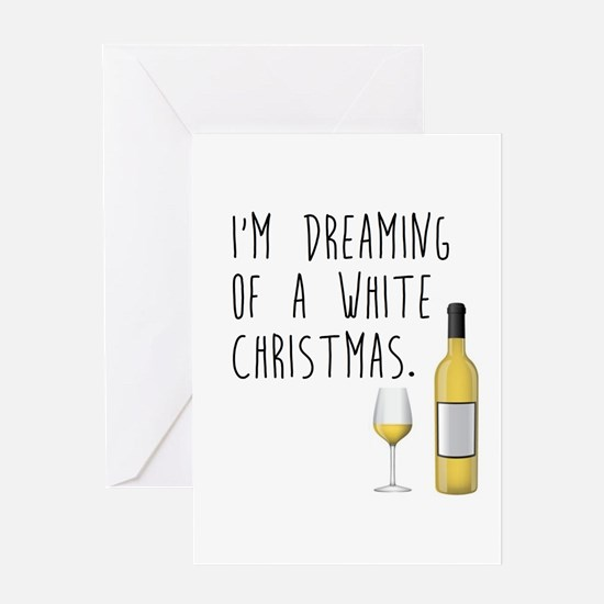 White (WINE) Christmas Greeting Cards
