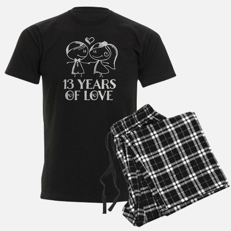 13th Anniversary chalk couple Pajamas