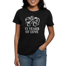 13th Anniversary chalk couple Tee
