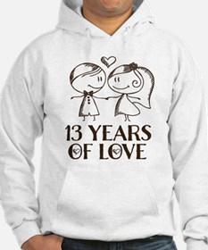 13th Anniversary chalk couple Hoodie