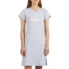 Outline Easter Bunnies Women's Nightshirt