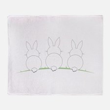 Outline Easter Bunnies Throw Blanket