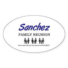 Sanchez Family Reunion Oval Decal