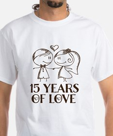 15th Anniversary chalk couple Shirt