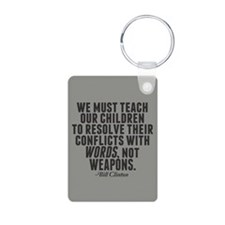 Words Not Weapons Keychains