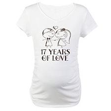 17th Anniversary chalk couple Shirt