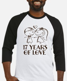 17th Anniversary chalk couple Baseball Jersey