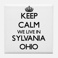 Keep calm we live in Sylvania Ohio Tile Coaster